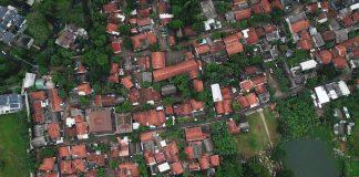 Kerala flood aerial view