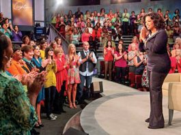 Oprah Winfrey and audience