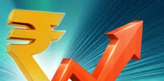 Rupee upwards