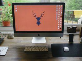 monitor on desktop