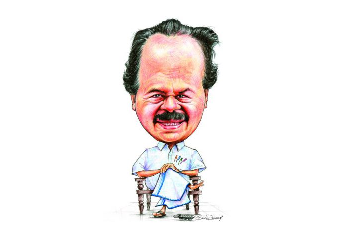 P T Thomas MLA caricature