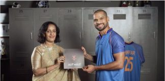 Shikhar Dhawan & Sheela Kochouseph of V-Star