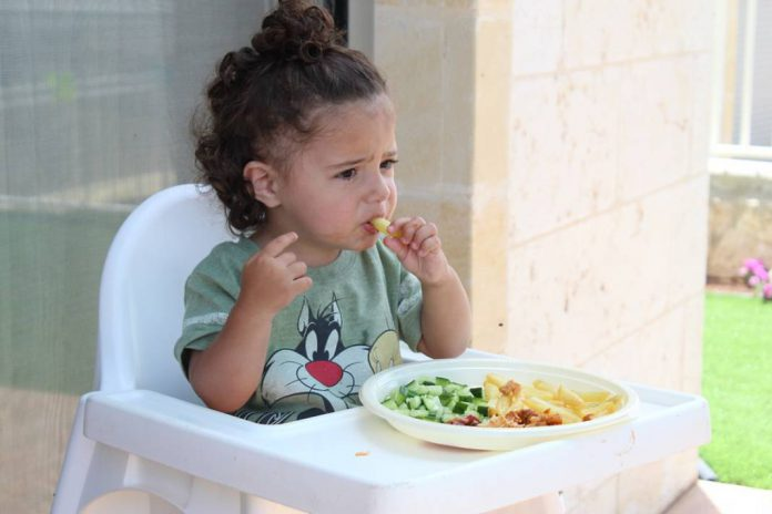 Child eating food