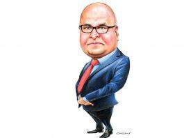 Tom Jose IAS Caricature by Sunil Pankaj for Dhanam