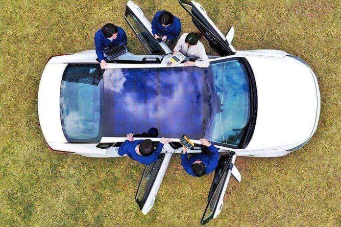car solar roof