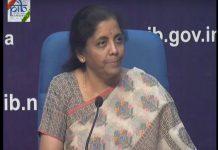 Nirmala Sitharaman announcing PSU bank mergers