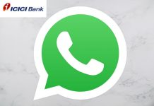 icici bank services through whatsapp