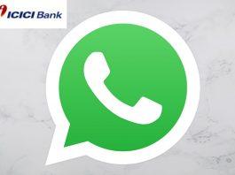 icici bank services through whatsapp