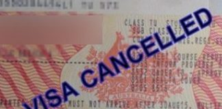 India cancelled visa