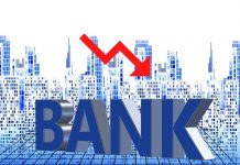 Bank stock price falls