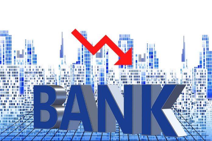 Bank stock price falls
