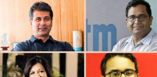 Rajiv Bajaj, Vijay Sekhar Sharma, Kiran Muzumdar Shaw, Kunal Bahl